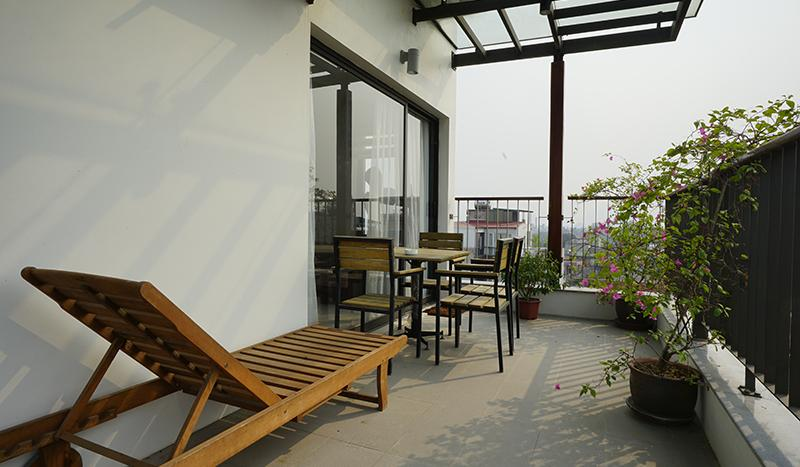Beautiful Terrace one bedroom apartment Tay Ho area
