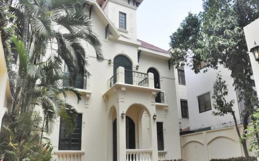 Commodious Villa Tay Ho with nice garden and pool for rent