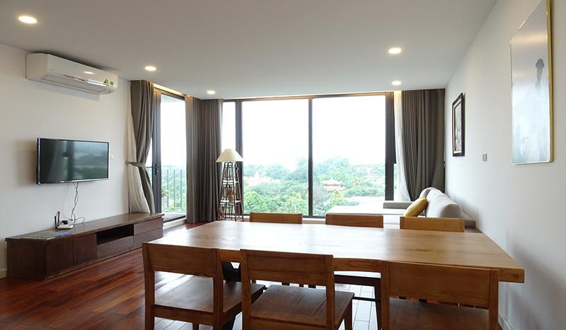 Open-view 2 bedrooms apartment Tay Ho district for rent