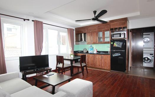 Bright one bedroom serviced apartment To Ngoc Van