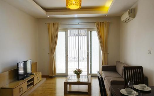 Plenty of light one-bedroom serviced apartment Hai Ba Trung, Ho Ba Mau
