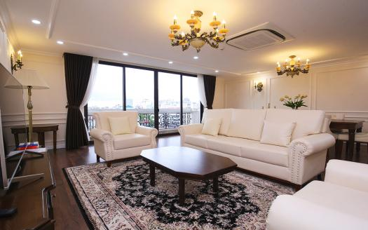 Hanoi downtown furnished apartment with 3 bedrooms to let