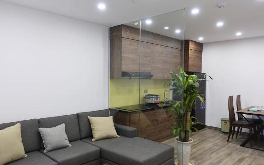 Two-bedroom serviced apartment near VinCom Center