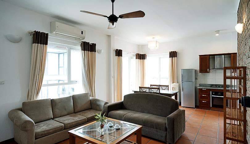 Apartment Tay Ho For Rent European Style 2 Bedrooms