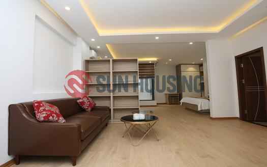 Studio serviced apartment Truc Bach with large size and bright light