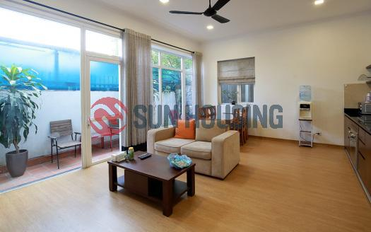 Elegant 2-bedroom apartment in Tay Ho with a small patio on the 1st floor