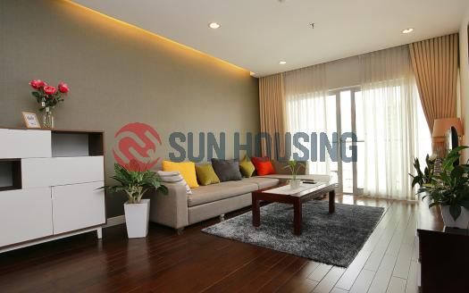 This modern and brand new apartment 2 bedrooms Lancaster Hanoi is ready for rent