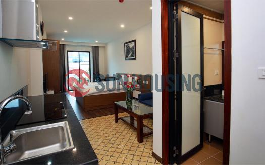 Studio Dong Da Hanoi one bed brand new, fully furnished with balcony.