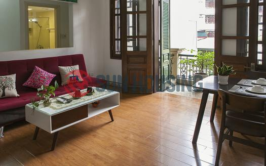 01-bed serviced apartment Truc Bach, Nguyen Khach Hieu with balcony