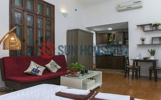 Studio serviced apartment Truc Bach | Well-arranged with balcony