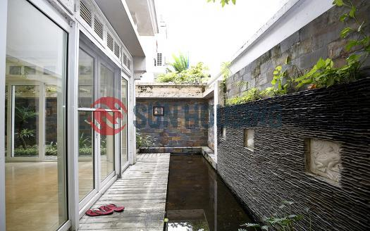 Semi-furnished big villa for rent in Ciputra Tay Ho, T Block