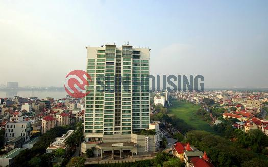 City viewing two bedroom apartment D'. Le Roi Soleil Tay Ho Hanoi