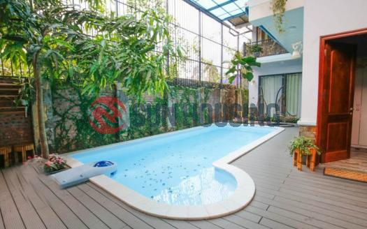 Tay Ho house for rent   700 sqm 5 bedrooms   Garden + Swimming pool