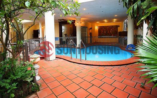 Swimming pool villa for rent in Westlake Tay Ho, 5 bedrooms