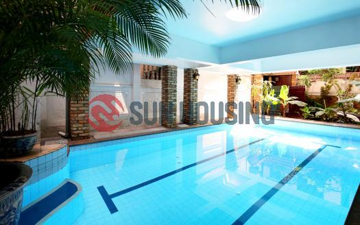 Swimming pool 5 bedroom house for rent in Tay Ho, good location