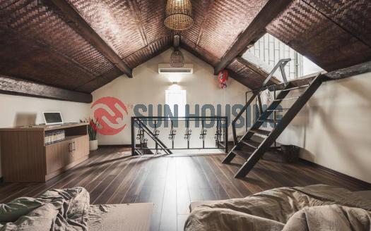 Duplex serviced apartment in Hoan Kiem Hanoi, in attic