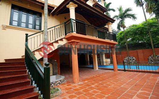 Villa Tay Ho Hanoi for rent with swimming pool, 5 bedrooms | 150 sqm