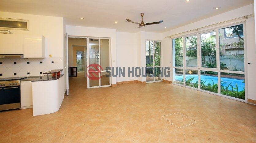 Swimming pool Westlake Villa for rent, 330 sq m land, 4 floor