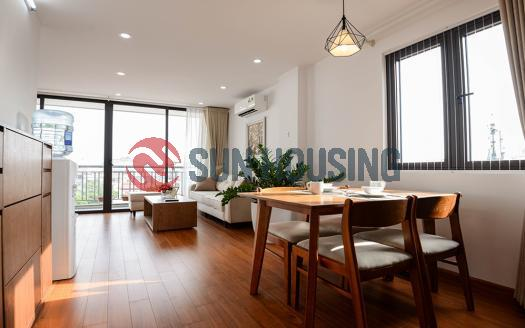 Serviced one bedroom apartment Ba Dinh Hanoi – balcony with much light