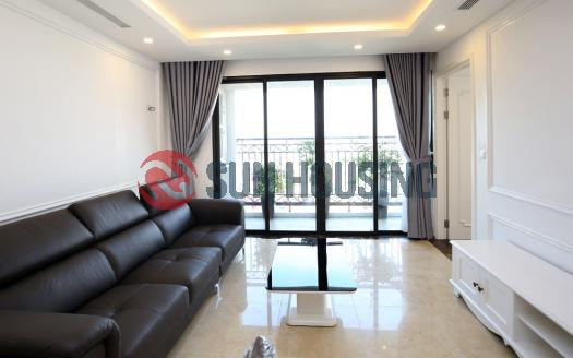 Newly apartment three bedrooms in Xuan Dieu Street, white furniture