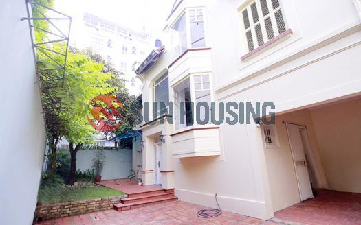 Bright Tay Ho house for rent, 4 bedrooms, yard + garden | Good location