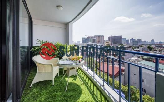 Serviced three bedroom apartment with balcony in Ba Dinh, Hanoi