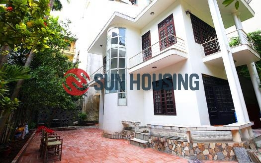Large front yard 3 bedroom house for rent in To Ngoc Van, Tay Ho