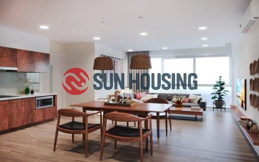 Serviced two-bedroom apartment Ba Dinh Hanoi, much of natural light