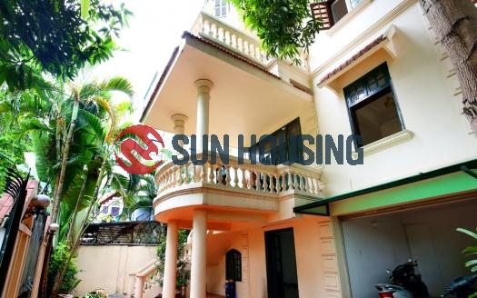 Unfurnished French 4BR Tay Ho House for rent $2400/month