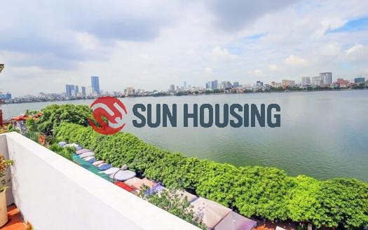 Partly-furnished Tay Ho 4 bedroom house for rent, good condition