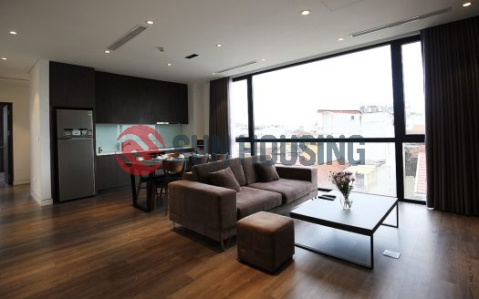 Apartment in Tay Ho, To Ngoc Van. Office space and thoughtful design