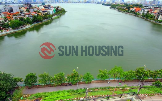Unmatched views of Westlake from a large balcony. Apartment on Xuan Dieu.