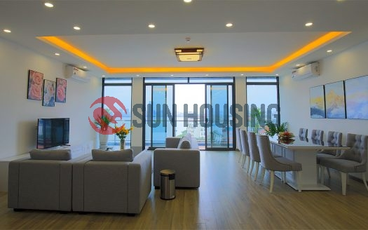 Serviced apartment in Tay Ho lake views 2 bedrooms for rent.