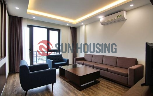 Tay Ho beautiful view 2 bedrooms serviced apartment in To Ngoc Van for lease