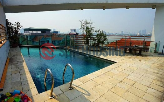 5 bedroom Tay Ho house with swimming pool on the top floor, elevator inside