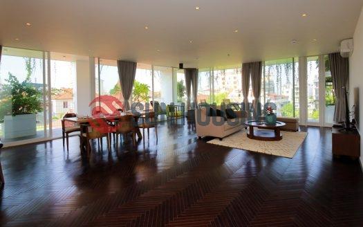 Beautiful garden and pond apartment 4 bedrooms in To Ngoc Van, Hanoi to rent