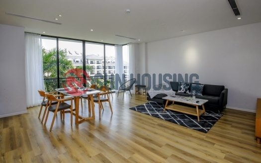 Green tree and quiet service apartment 2 bedrooms in Tu Hoa, Tay Ho for rent