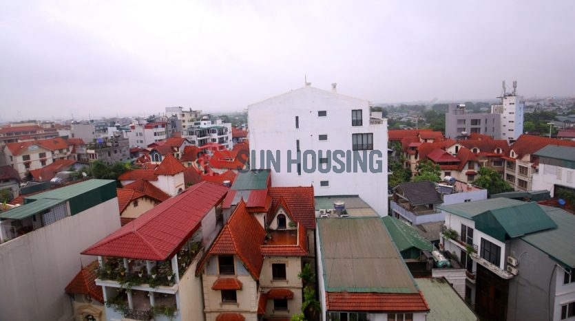 Service apartment pretty view 2 bedrooms in To Ngoc Van for lease