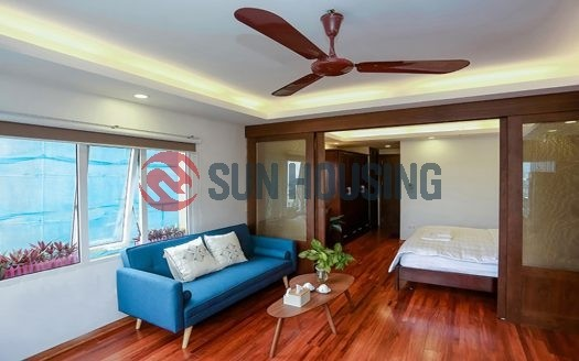 Bright serviced apartment for rent in Nam Ngu, Hoan Kiem. 1 bedroom 55 sqm.