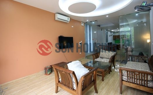 Partly-furnished 3 bedroom house in An Duong Vuong. 4 floor. 70 sqm land.
