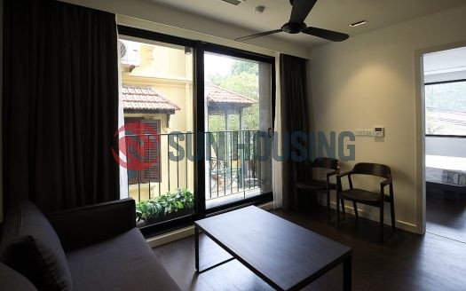 Nice view 01 bedroom service apartment in To Ngoc Van street to rent.