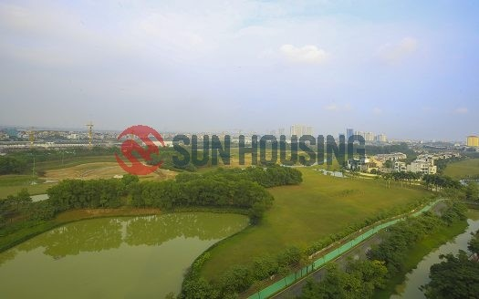 The apartment has 3 bedroom, 145m² in a total of living space located in Ciputra.