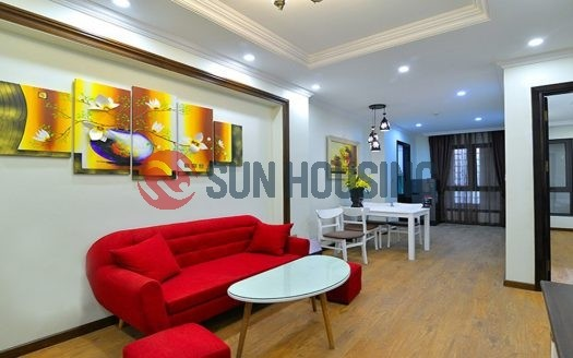 Serviced 2 bedroom apartment for rent in center of Hanoi, 80 sqm. $1500.