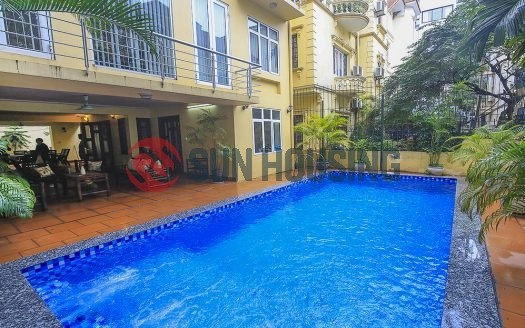 Spacious and quality 4 bedroom house with swimming pool for rent in Tay Ho.