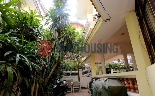 Nice yard 4 bedroom house for rent in Tu Hoa, Tay Ho. $1600/month.