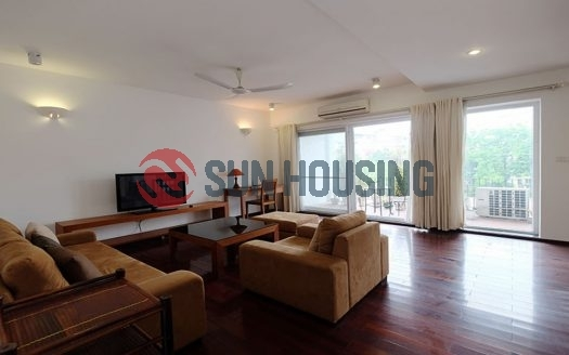 Nice view 02 bedrooms, large living room service apartment in Lac Chinh street for lease (1)