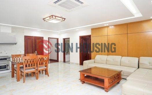 Tay Ho Center 2 bedroom apartment for rent in To Ngoc Van. Car access.