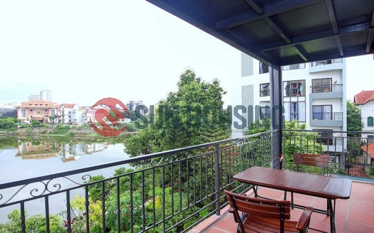 Beautiful lake views and modern style 04 bedrooms apartment in Tay Ho street for rent.