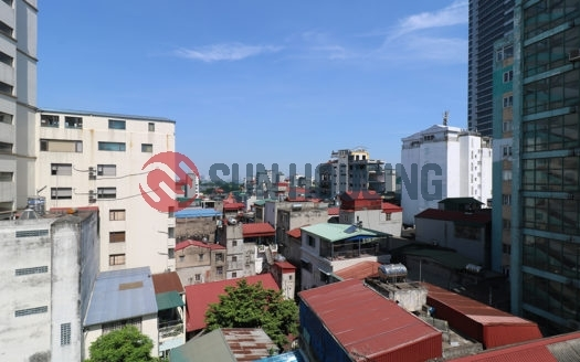 City view 1 bedroom service apartment on the 8th floor in Yen Ninh street for lease