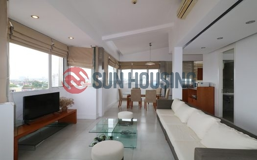 Duplex apartment for rent in Nguyen Truong To street.